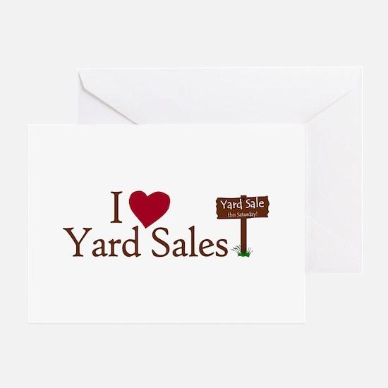 I Love Yard Sales Greeting Card