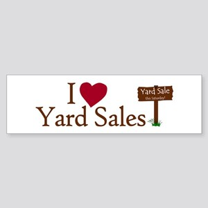 I Love Yard Sales Bumper Sticker