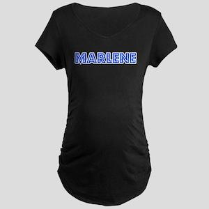 Retro Marlene (Blue) Maternity Dark T-Shirt