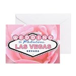 WEDDING In Las Vegas Pink Rose Cards (Pk of 10)