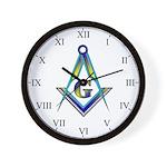 Masonic Roman Numeral Wall Clock