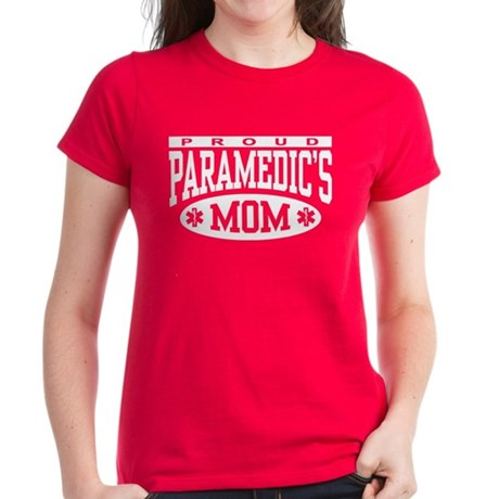 Proud Paramedic's Mom Women's Dark T-Shirt