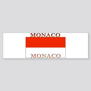 Monaco Monegasque Flag Bumper Sticker