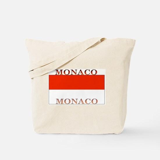Monaco Monegasque Flag Tote Bag
