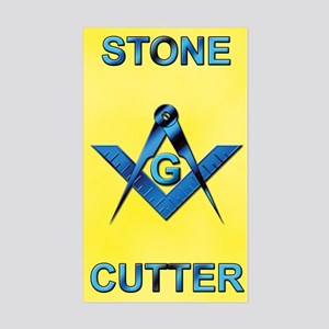 Stone Cutter Rectangle Sticker