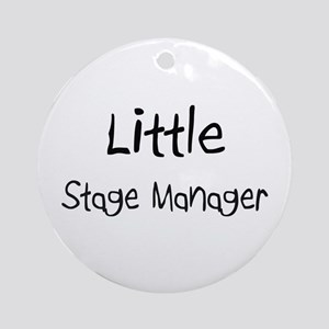 Little Stage Manager Ornament (Round)