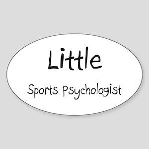 Little Sports Psychologist Oval Sticker