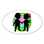 Stop Global Warming Oval Sticker (10 pk)