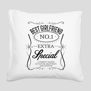 BEST GIRLFRIEND Square Canvas Pillow