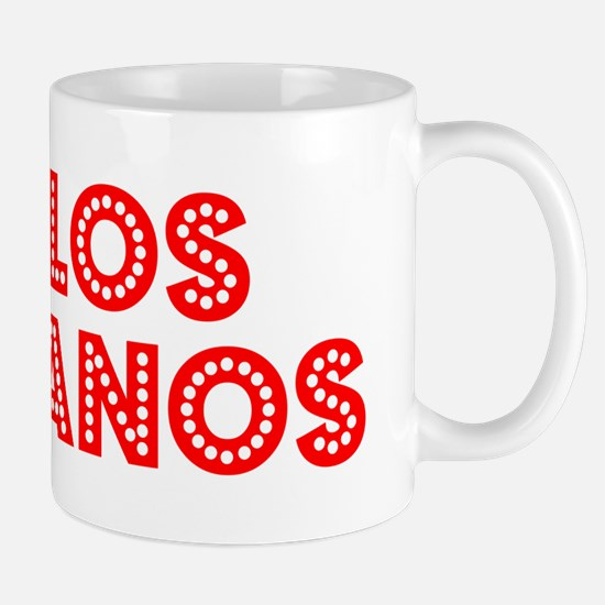 Retro Los Banos (Red) Mug