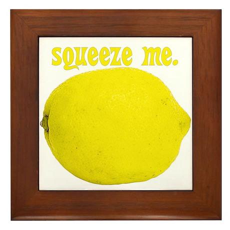 lemon squeeze Framed Tile