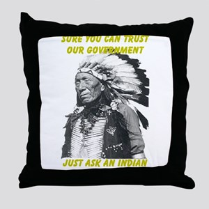 Trust government Throw Pillow