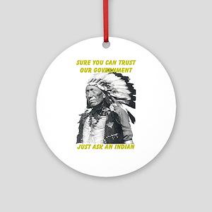 Trust government Ornament (Round)
