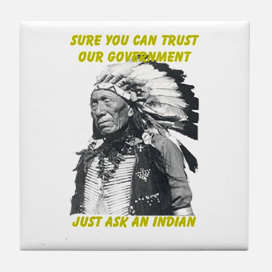 Trust government Tile Coaster