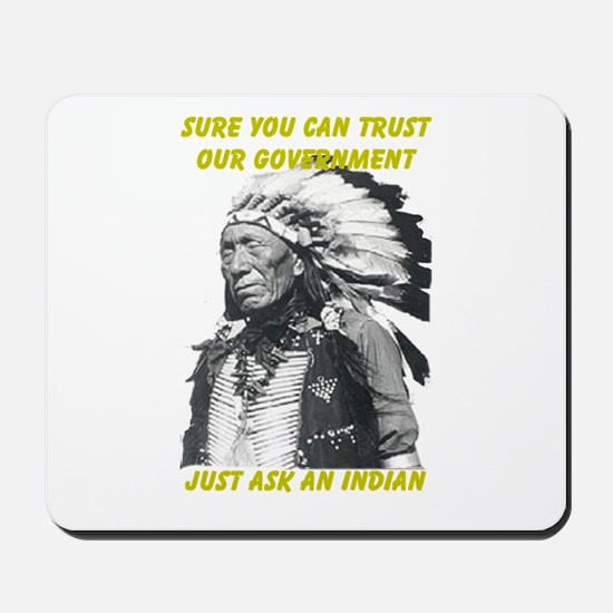 Trust government Mousepad
