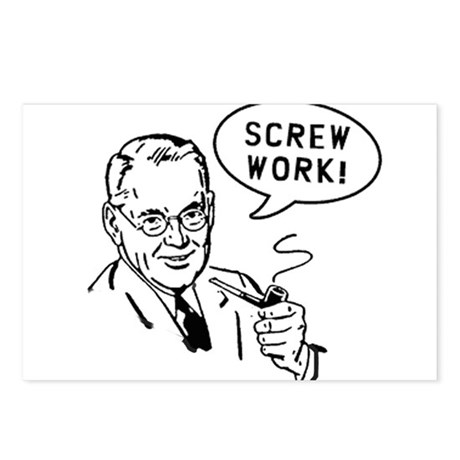 Screw Work Postcards (Package of 8)