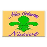 New Orleans Themed Rectangle Sticker