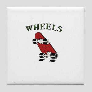 Skateboard Wheels Tile Coaster