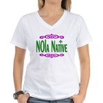 New Orleans Themed Women's V-Neck T-Shirt