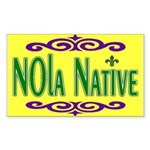 New Orleans Themed Rectangle Sticker 10 pk)