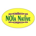 New Orleans Themed Oval Sticker (50 pk)