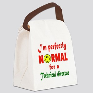I'm perfectly normal for a Techni Canvas Lunch Bag