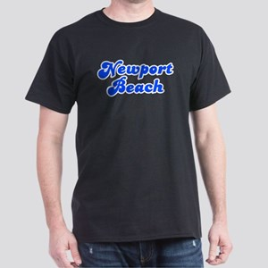 Retro Newport Beach (Blue) Dark T-Shirt