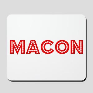Retro Macon (Red) Mousepad