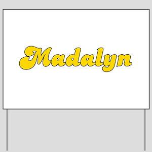 Retro Madalyn (Gold) Yard Sign