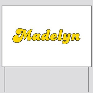 Retro Madelyn (Gold) Yard Sign