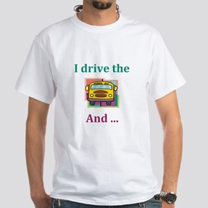 School Bus Driver White T-Shirt