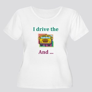 School Bus Driver Women's Plus Size Scoop Neck T-S