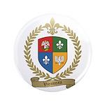 """VIENNEAU Family Crest 3.5"""" Button"""