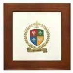 VIENNEAU Family Crest Framed Tile