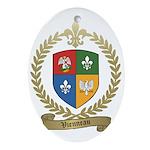 VIENNEAU Family Crest Oval Ornament