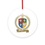 VIENNEAU Family Crest Ornament (Round)