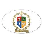 VIENNEAU Family Crest Oval Sticker (50 pk)