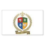 VIENNEAU Family Crest Rectangle Sticker 50 pk)