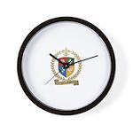 VIENNEAU Family Crest Wall Clock