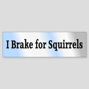 I Brake for Squirrels 6 Bumper Sticker