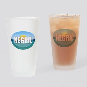 Negril Sunset Drinking Glass