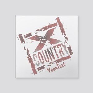 Customize - X Country Grunge Sticker