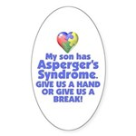 Give Us A Hand Oval Sticker (10 pk)