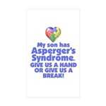 Give Us A Hand Rectangle Sticker 50 pk)