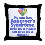 Give Us A Hand Throw Pillow