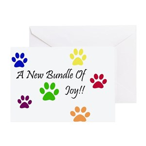 Congratulations on your new puppy greeting cards cafepress m4hsunfo