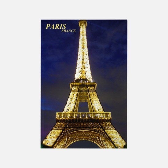 Night Eiffel Rectangle Magnet