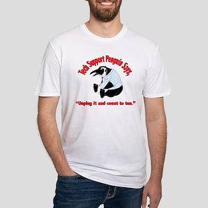 Tech Support Penguin - Ten Fitted T-Shirt