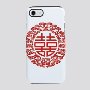 chinese red double happiness iPhone 8/7 Tough Case