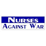 Nurses Against War (bumper sticker)